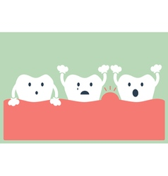 tooth periodontal disease vector image