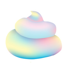 Unicorn poop pastel turd vector