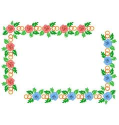wedding frame vector image