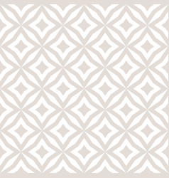 white and beige subtle diamonds seamless pattern vector image