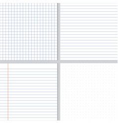 white crumpled paper blue graph lines and dot vector image