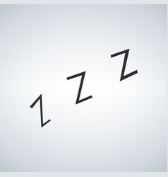 Zzz sleeping night sign icon vector