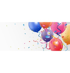 Birthday and celebration banner vector image vector image