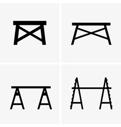 Construction trestles vector image vector image