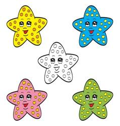 Cute starfish vector image vector image