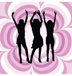 females dancing vector image