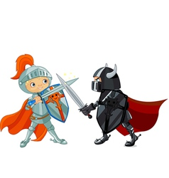 Fighting Knights vector image