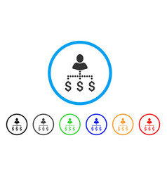 person payments rounded icon vector image vector image