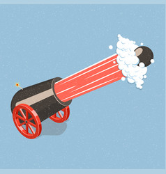 Shooting cannon vector