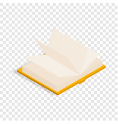 yellow open book isometric icon vector image