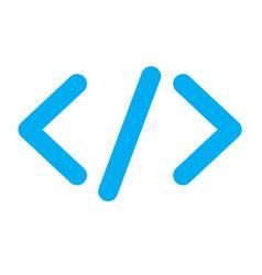 blue code icon vector image