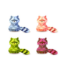 cute little raccoon cartoon vector image vector image