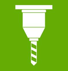 drill bit icon green vector image vector image