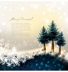 fir-trees vector image vector image