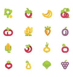 fruits and vegetables set vector image