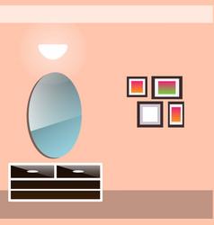 hallway interior with furniture vector image