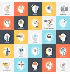 Thinking and brain process vector image