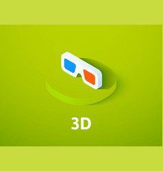 3d isometric icon isolated on color background vector image