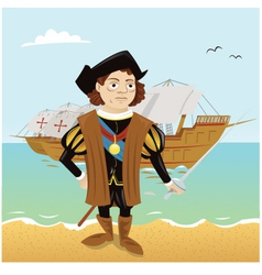 Christopher Columbus vector image