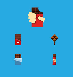 Flat icon sweet set of chocolate bitter sweet vector