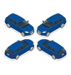 Hatchback car Flat 3d isometric vector image