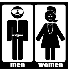 men women vector image