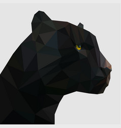 panther in low poly vector image vector image