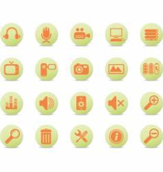 web icons round orange vector image vector image
