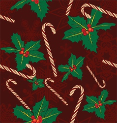 seamless background with symbols of Christmas vector image vector image