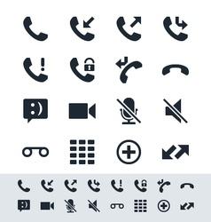 Telephone icon simplicity theme vector image