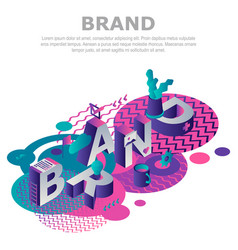 abstract brand concept background isometric style vector image
