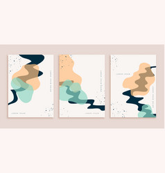 abstract hand drawn poster design set vector image