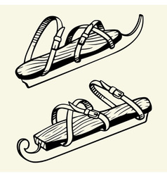 Antique ice skates vector image
