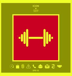 barbell symbol icon vector image
