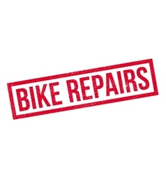 Bike Repairs rubber stamp vector image