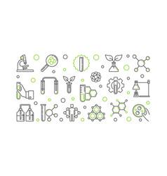 Biological chemistry outline concept vector