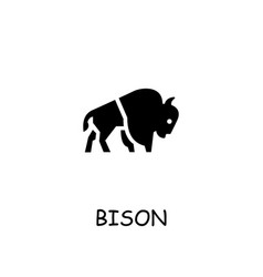 Bison flat icon vector
