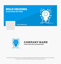 Blue business logo template for bug insect spider vector