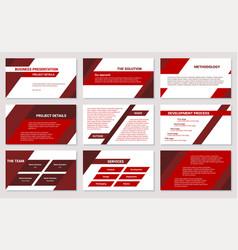 Business presentation design template powerpoint vector