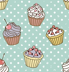 cakes pattern retro vector image vector image