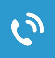 call icon white on the blue background vector image