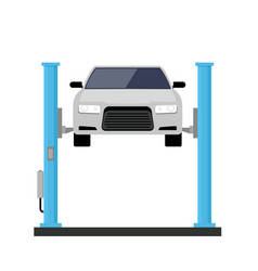 car repair lift service mechanic flat car lift vector image