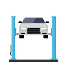 Car repair lift service mechanic flat car lift vector