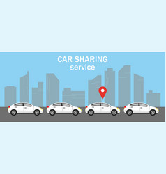 Car shering or rent concept vector