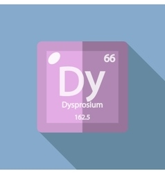 Chemical element Dysprosium Flat vector image
