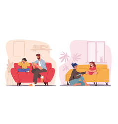 Children and parents talking concept father vector