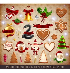 Christmas Ornaments Collection vector