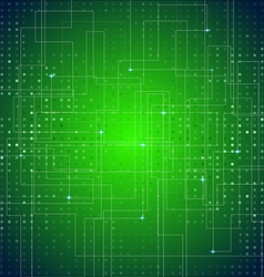 Circuit Board Texture Green Abstract Background vector