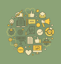 colorful blogging creative vector image vector image