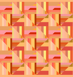 Colorful seamless abstract striped square mosaic vector